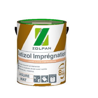 Lasure d'imprégnation : SATIZOL IMPREGNATION - ZOLPAN