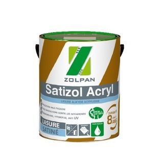 Lasure acrylique multicouche satinée Satizol Acryl - Zolpan