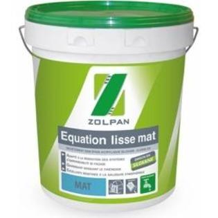 Peinture façade souple renforcée au siloxane: Equation lisse mat - Zolpan