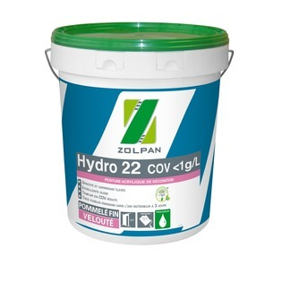 Peinture velours Ecolabel finition soignée : Hydro 22 - ZOLPAN