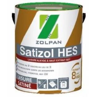 Lasure multicouche satinée à haut extrait sec Satizol HES - Zolpan